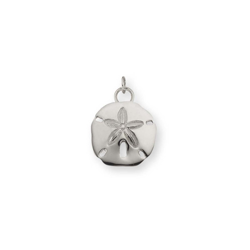 Sterling Silver Sand Dollar Charm Looks like a Miniature Thing