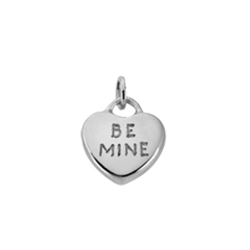 """Sterling Silver Candy Heart Charm """"Be Mine"""" for Valentines Special Gift"""