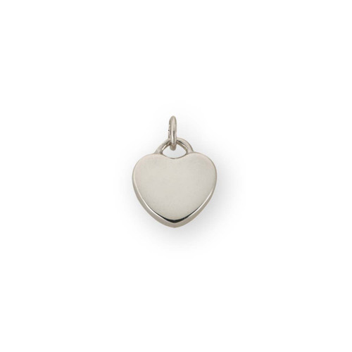 """Sterling Silver Candy Heart Charm """"Plain"""""""