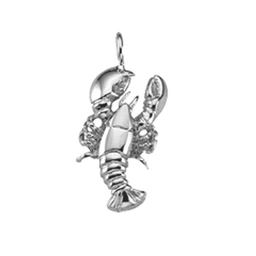 Sterling Silver Lobster Charm for Seafood Lover