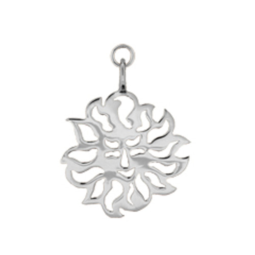 Sterling Silver Sun Sign Charm with jump ring to attach