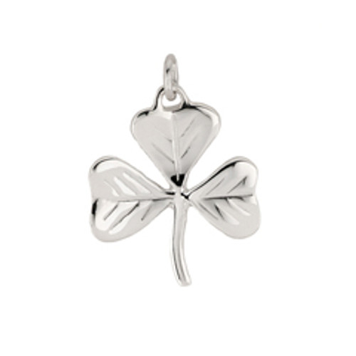 Sterling Silver Shamrock Charm for best and good luck wish