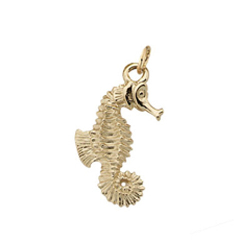 14kt Seahorse Charm Inpired by Sea Life