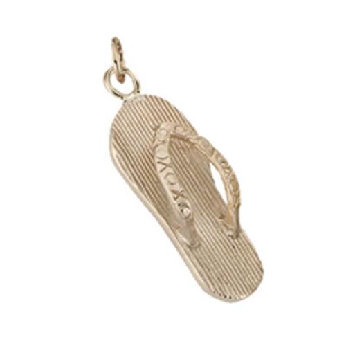 14kt Flip Flop Charm Looks like a Miniature Sandal