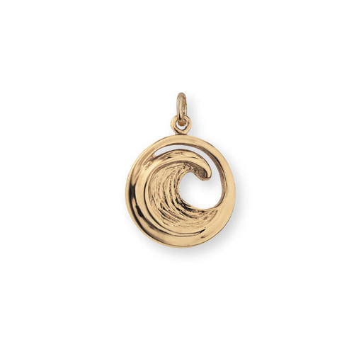 14kt Small Perfect Wave Charm for Beachcomber