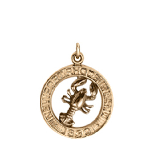 Perfect 14kt Gold Newport Lobster Charm