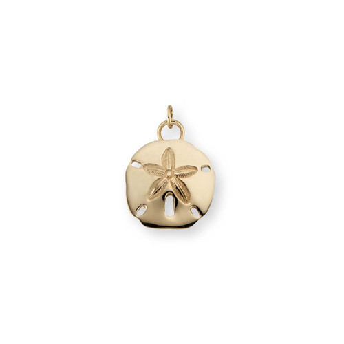 14kt Gold Lovely Sand Dollar Charm