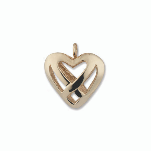 Beautiful 14kt Gold Celtic Heart Charm