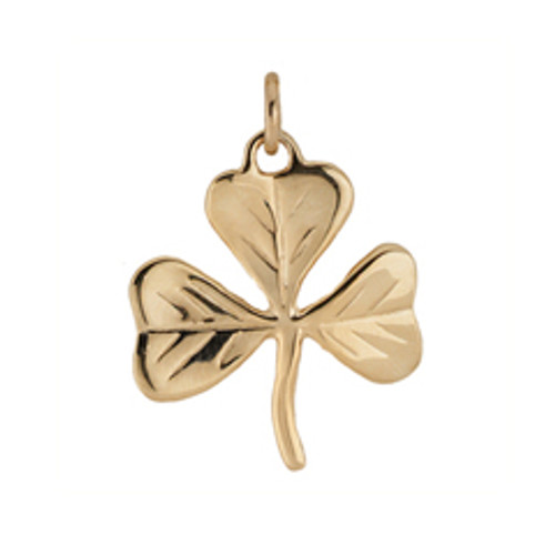 14kt Gold Shamrock Charm symbolizes good Luck!