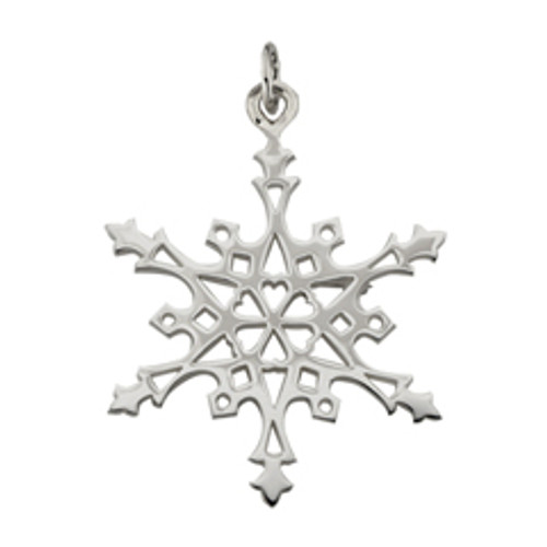 Sterling Silver 2004 Snowflake Charm
