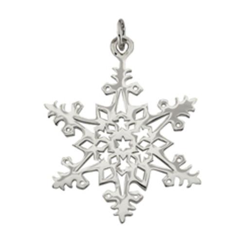 Sterling Silver 2005 Snowflake Charm Symbolize Good Wishs