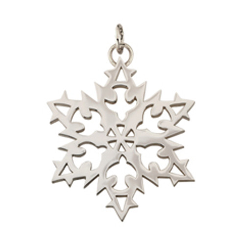 Sterling Silver 2007 Snowflake Charm Expresses Hope and Peace