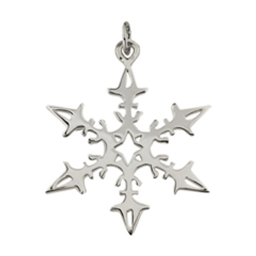 Sterling Silver 2008 Snowflake Charm with Sailboat Pattern