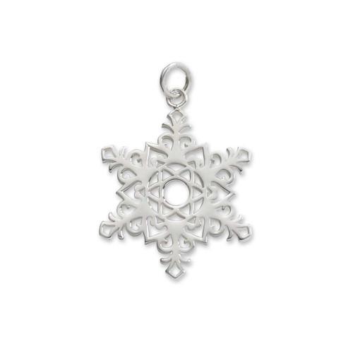 Sterling Silver 2017 Snowflake Charm