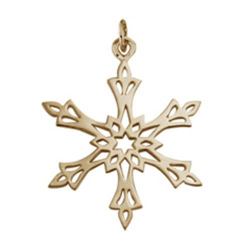 14kt 2002 Snowflake Charm reflects brightness of North Star