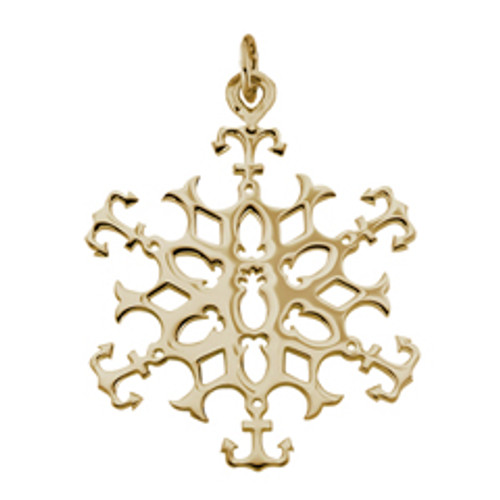 14kt 2003 Snowflake Charm with Jump Ring to Attach