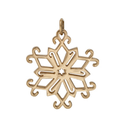 14kt 2013 Snowflake Charm including bail