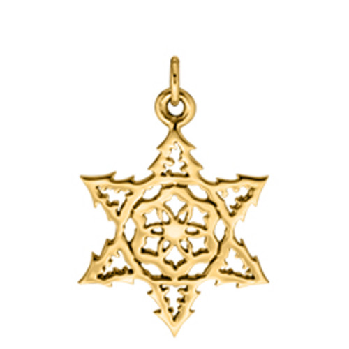 14kt Gold 2015 evergreen Snowflake Charm