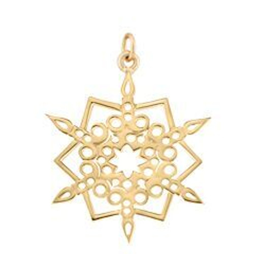 2016 14kt Gold Candlelight Snowflake Charm