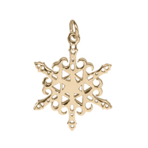 14kt Gold 2012 Ligthhouse Snowflake Charm