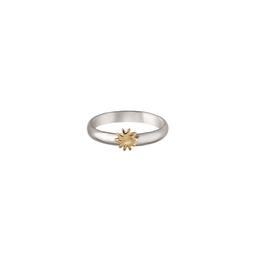 Sterling Silver & 14kt Gold Talisman Sun Ring