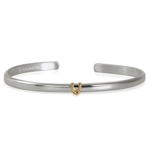 Sterling & 14kt Gold Talisman Horseshoe Cuff Bracelet