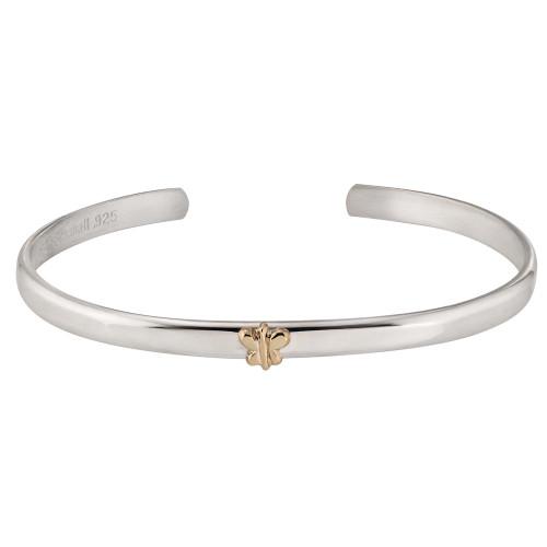 Sterling Silver & 14kt Gold Talisman Butterfly Cuff