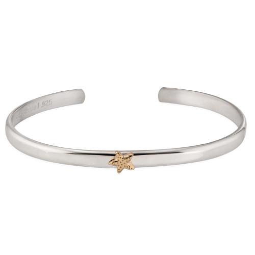 Sterling & 14kt Gold Talisman Starfish Cuff Bracele