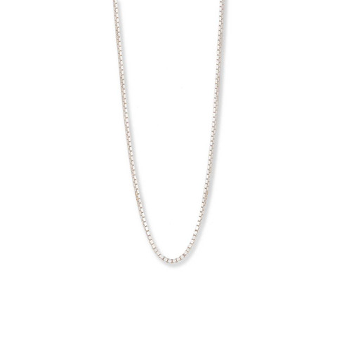 Sterling Silver Standard Box Chain, 1mm,