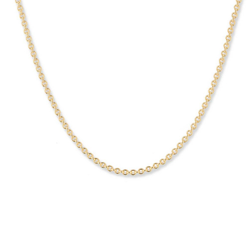 14kt Gold Round Cable Chain , 2.2mm, Lobster Claw