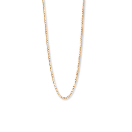 14kt Gold Standard Box Chain , 1mm,