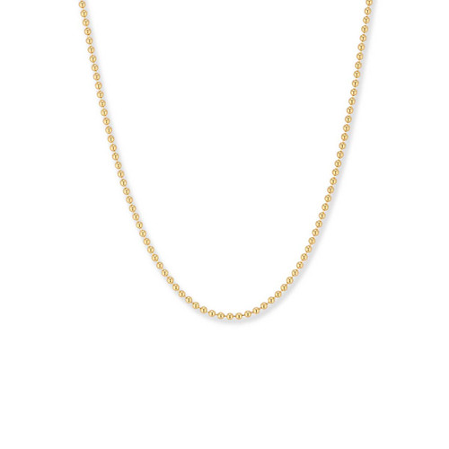 14kt GoldBead Chain with Spring Ring Closure, 1.5mm,