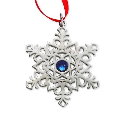 Sterling Silver 2017 45th Sapphire Anniversary Ornament