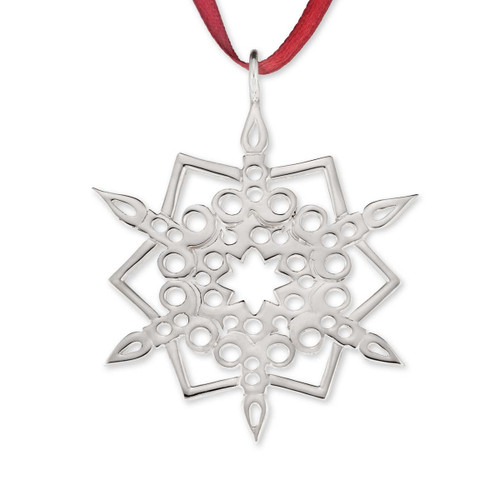 Sterling Silver 2016 Snowflake Ornament