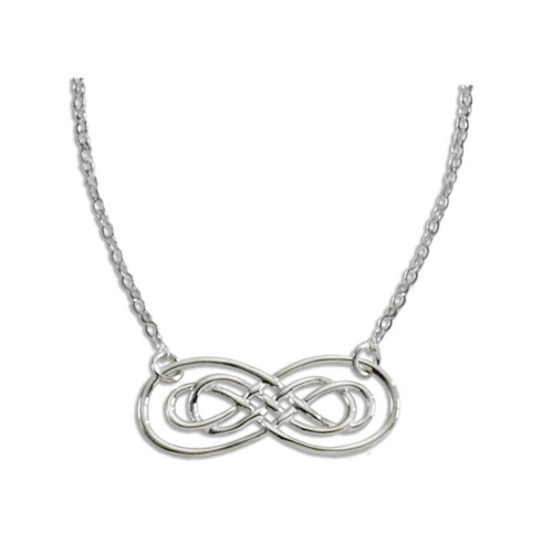 Sterling Silver Harmony Infinity Necklace Symbol of Forever