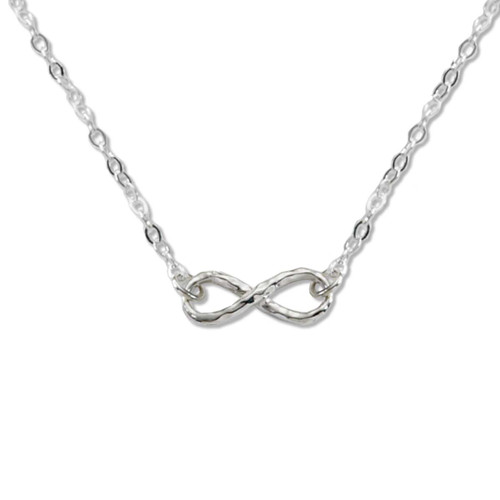 Sterling Silver Mini Infinity Cable Chain Necklace