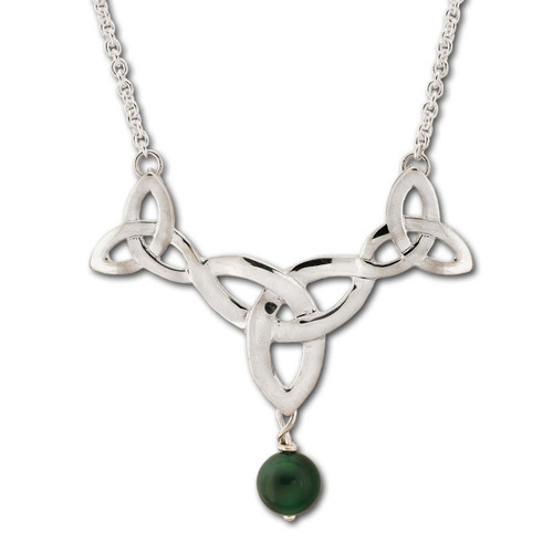 Sterling Silver Misty Isle Necklace With Celtic Knot