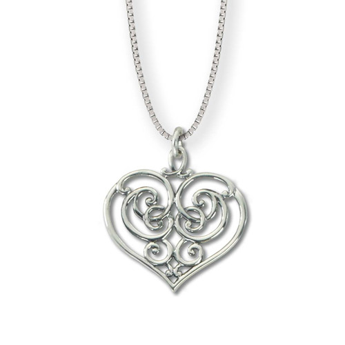 Heart Sterling Silver Garden Gate Newport Pendant