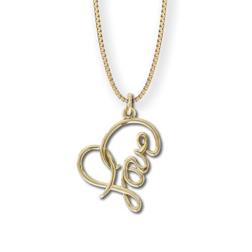 14kt Gold Love Heart Pendant