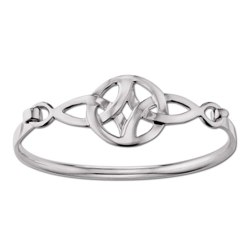 Sterling Silver Celtic Knot Clip Bracelet Symbol Of Art