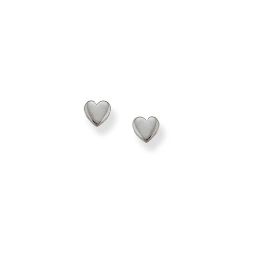 Sterling Silver Heart Talisman Earrings Symbol of Affection