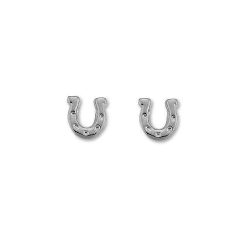 Sterling Silver Horseshoe Talisman Earrings Symbol Good Luck & Fortune