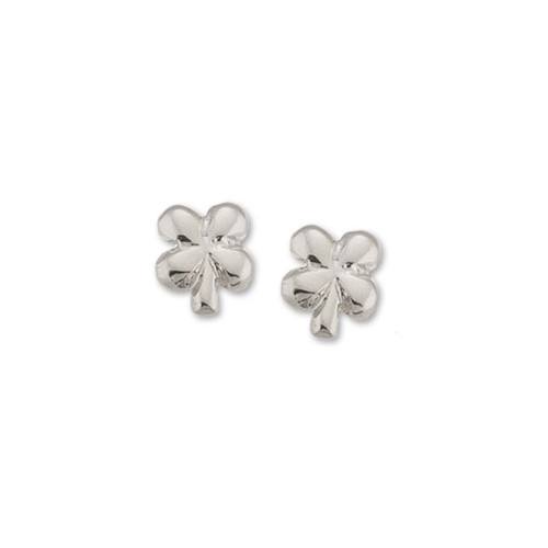 Sterling Clover Talisman Stud Earrings symbol of Luck & Fortune