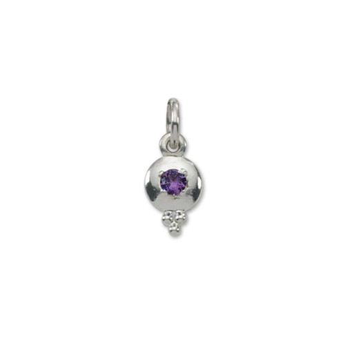 Sterling Silver Story of Us Birthstone Charm
