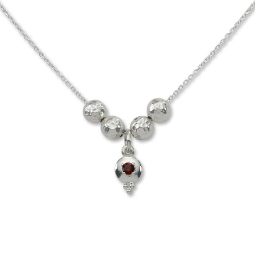 Sterling Silver Story of Us 1 Birthstone Necklace