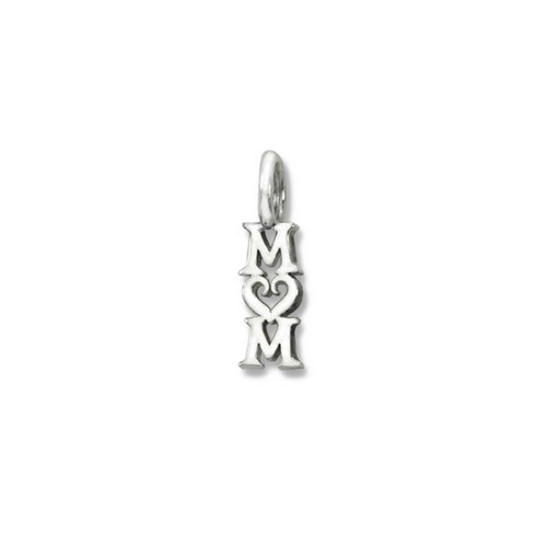Sterling Silver Mom Charm Pendant