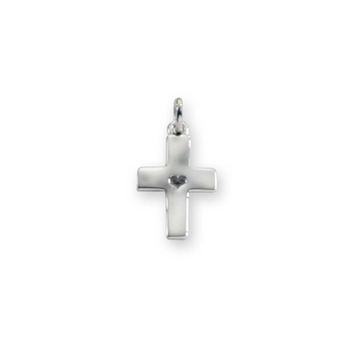 Sterling Silver Mini Hammered Cross Charm Pendant