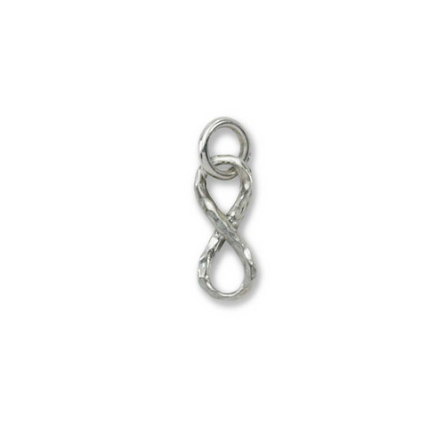 Handmade Sterling Silver Mini Infinity Charm Pendant