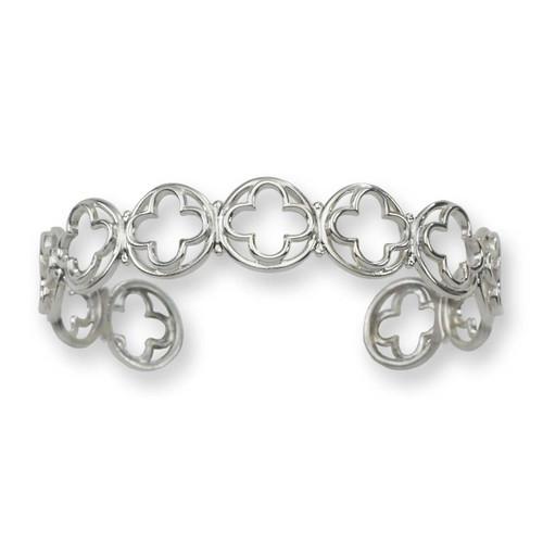 Sterling Silver Italian Verona Cuff Bracelet