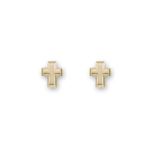 14kt Gold Cross Post Stud Earrings